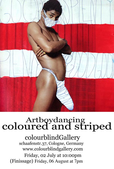 Coloured and Striped: An Exhibition of Artboydancing's collages at Colourblind Gallery, Cologne, Germany.