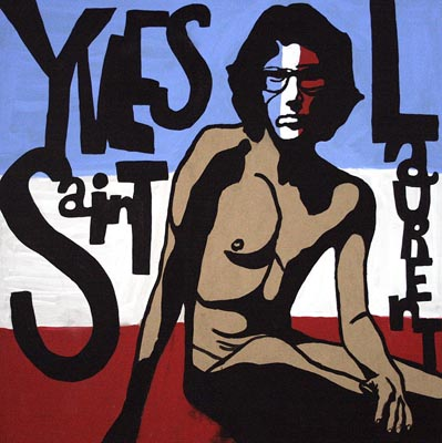 Painting by artist Stephan White a.k.a. Artboydancing titled Yves Saint Laurent